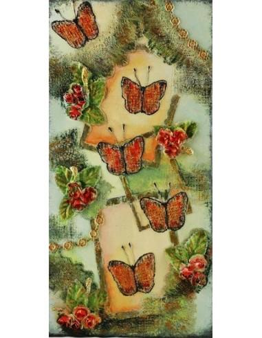 Tableau Flight of butterfly
