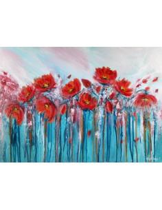 Tableau red flowers